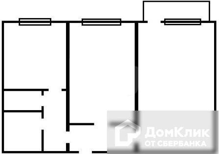 Продаётся 2-комнатная квартира, 46.8 м²