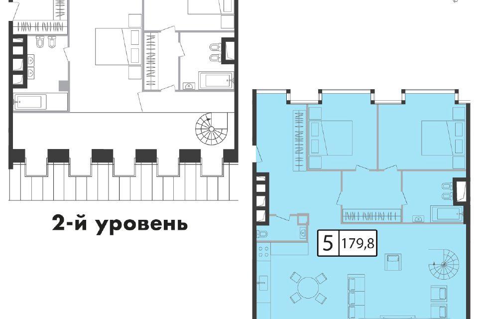 Продаётся 5-комнатная квартира, 182.5 м²