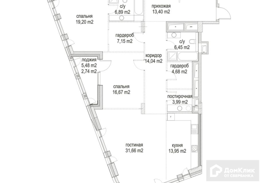 Продаётся 3-комнатная квартира, 140.8 м²