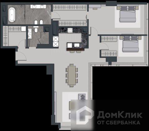 Продаётся 4-комнатная квартира, 134.6 м²