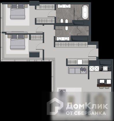 Продаётся 3-комнатная квартира, 126.6 м²