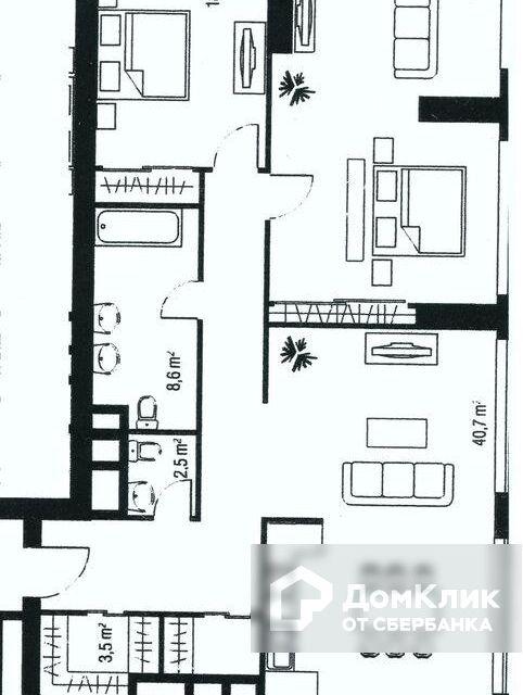 Продаётся 1-комнатная квартира, 115.3 м²
