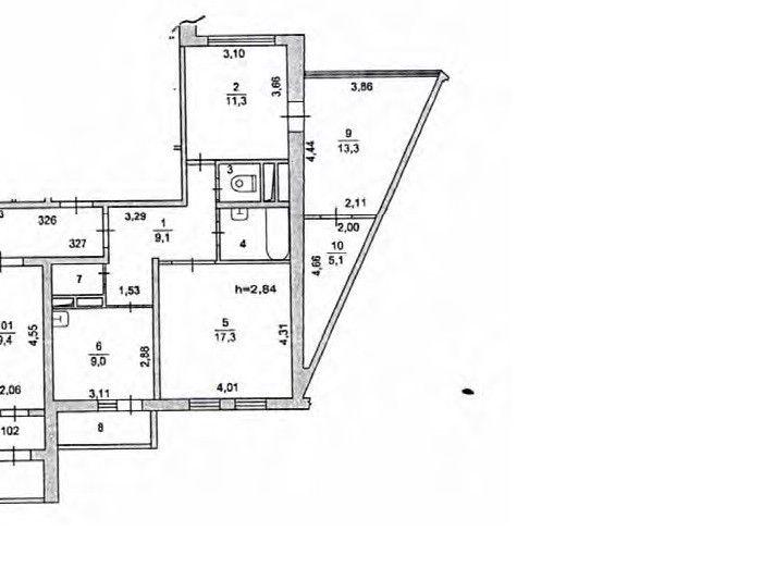 Продаётся 2-комнатная квартира, 73 м²